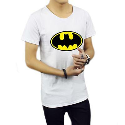Men Cool Batman Print Silm Fit T-Shirt Workout Fitness Casual Tee Tops Blouse S