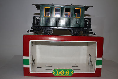 Lgb G Scale #3010 Wn15 Second Class Passenger Car, Green, Boxed