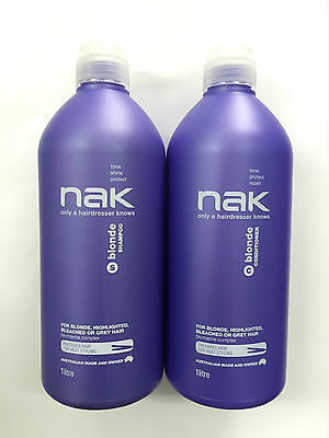 Nak Blonde shampoo and conditioner 1 litre Duo with pumps ( 1000ml)