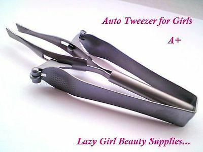 AUTOMATIC PROFESSIONAL EYEBROW (GENERAL) TWEEZERS heavy duty strong grip