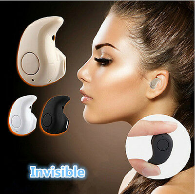 Hot! Black Stereo Bluetooth Earplug Wireless Headphone For Tablet PC Smartphone
