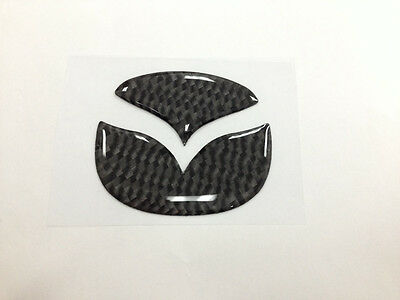Carbon Steering Wheel Emblem Insert Decal Sticker For Mazda 2 3 5 6 CX-5