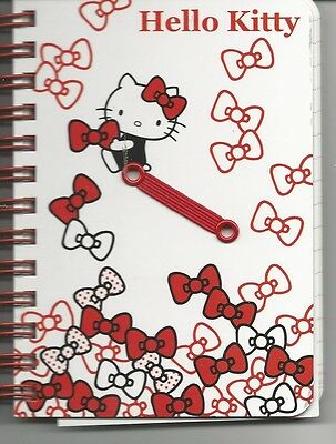 Sanrio Hello Kitty Spiral Notebook Hard Cover Bows