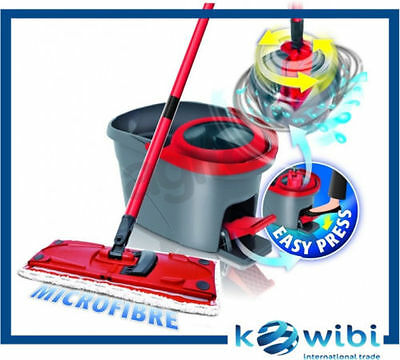 New Vileda Easy Wring & Clean Ultramat Spin Mop Flat rotary 360 140827 FastShipp