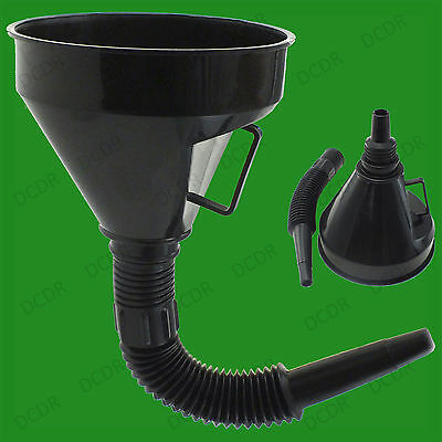 Large Detachable Flexible Gauze Neck Funnel Suitable For Oil Fuel Petrol Liquids