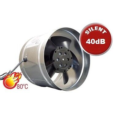 "Chimney Extractor Fan 150mm / 6"" Metal Ducting Ventilator Stoves Flu Liner Fan W"