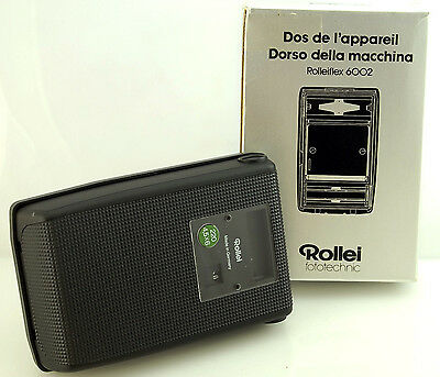 BOXED ROLLEI ROLLEIFLEX 220 6x4.5 FILM BACK + INSERT FOR 6000 6006 etc 760 033