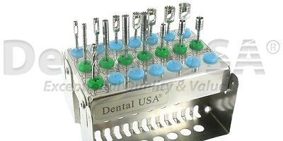Dental USA TREPHINE BUR & TISSUE PUNCH KIT CODE-1931 (16 PCS)