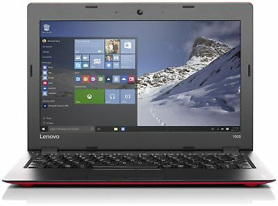 Lenovo IdeaPad 100S 11.6 Inch Intel 1.83Ghz 2GB 32GB Windows 10 Laptop - Red.