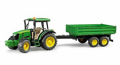 Bruder #09816 John Deere 5115M Vehicle with Trailer - New Factory Sealed #9816