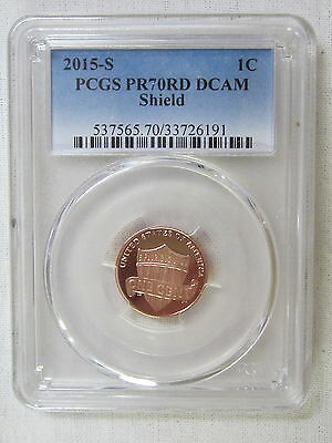 2015 S Proof Lincoln Shield Cent/Penny - PCGS PR 70 RD DCAM Red Deep Cameo