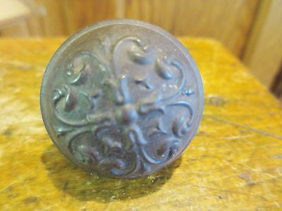 Door Knob Cast Metal Decorative Ornate Antique