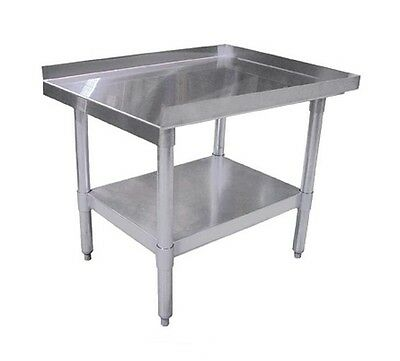 Omcan 24087, 30x15-Inch Equipment Stand with Galvanized Legs and Undershelf, NSF