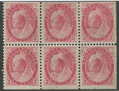CANADA #77b USED BOOKLET PANE