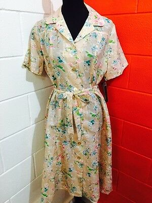 Vintage 1970s Tea Dress By Laurel C Fashions For Today New W Old Tags 14-16