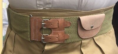 British WWI Stable Belt, adjustable up to size 48