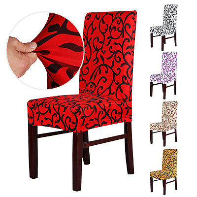 2/4/6 pcs Removable Stretch Slipcovers Short Dining Room Stool Seat Chair Cover
