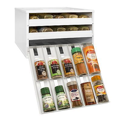 YouCopia Chef's Edition SpiceStack 30-Bottle Organizer with Universal Drawers...