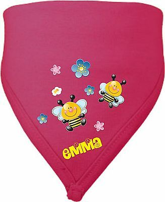 Scarf Triangular cloth Baby Child Teeth drooling Baby cloth Name Desired Motif
