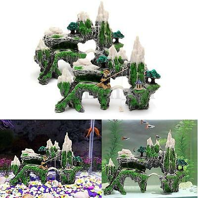 Aquarium Decoration Ornement Fish Tank Pont Rocaille Artificielle Poisson Resine