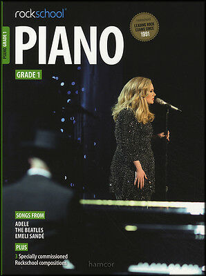 Rockschool Piano Grade 1 Exam Sheet Music Book/DLC Adele The Beatles Emeli Sande