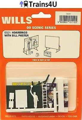 Wills SS21 Advertisement Hoardings and Bill Poster (OO Scale)