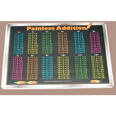 NEW PAINLESS ADDITION CHILDRENS Educational School HOMESCHOOL Placemat MATHS