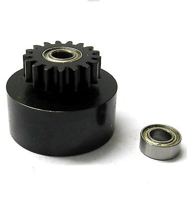 1/10 1/8 Scale .18 + Engine Clutch Bell Housing 17 Tooth Teeth 17T + 2 Bearings