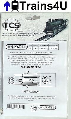 TCS 1462 KAT14 Keep Alive 4 Function DCC Decoder & Hardwire Harness