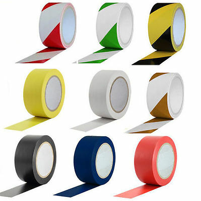 PVC Warehouse Hazard Warning Floor Marking Tape Roll - 50mm x 33m (Multi Color)