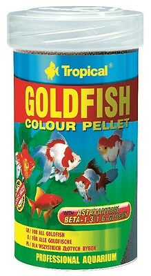 TROPICAL GOLDFISH COLOR PELLET 100 ml/35 gr mangime per pesci rossi e koi