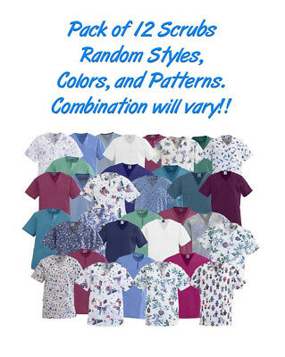 Scrub Tunics 12/pk No Choice of: Color Pattern Style Combination May have Logos