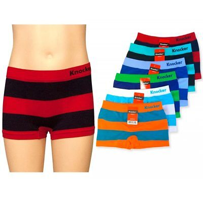 c9beb7e21081 6 Knocker Boys Boxer Shorts Seamless Striped Spandex Kids Soft Underwear S  M L
