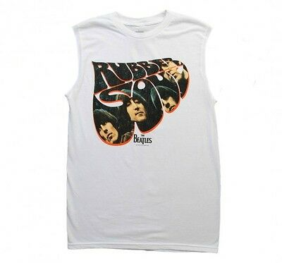 New: THE BEATLES - Rubber Soul (Mens) Concert Muscle Tank Concert T-Shirt :)