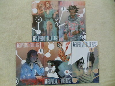 Lot of 5 comics Supreme Blue Rose #2 4 5 6 7 Image Warren Ellis Tula Lotay VF
