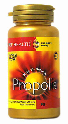 1 x Bottle Bee Health PROPOLIS 1000mg x 90 Capsules healthy immune system