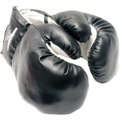 AGE 6-8 KIDS 6 OZ BOXING GLOVES YOUTH PRACTICE TRAINING MMA Faux Leather Black