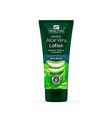 3 Packs of Aloe Pura Aloe Vera Organic Lotion 200ml With Shea Butter & Vitamin E