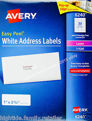 Avery labels 55160 template