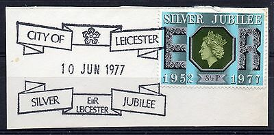 GB = Town/Village cancel - QE2, `CITY of LEICESTER / SILVER JUBILEE` 1977 cancel