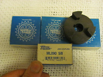 """Martin ML090  5/8 """" 3 Jaw Drive Coupling. Motor Coupler NOS. ONE New ( 1 )"""
