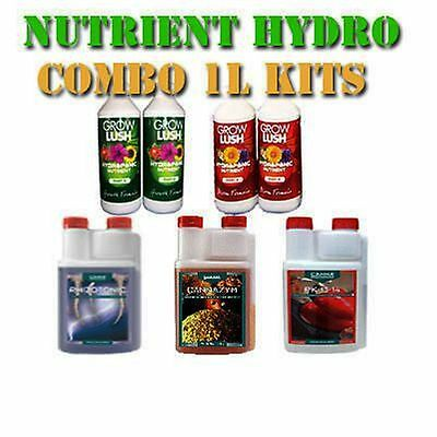 Hydroponics Nutrients Kit - Hydro Grow Bloom Canna Rhizotonic ZYM PK 13/14