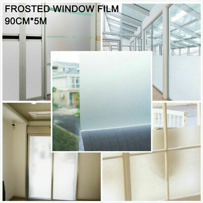 AU Ship Sand Blast Clear Privacy Frosted Frosting Removable Windows Glass Film