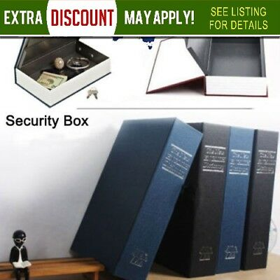 Dictionary Book Secret Hidden Security Safe Key Lock Cash Money Jewellery Locker