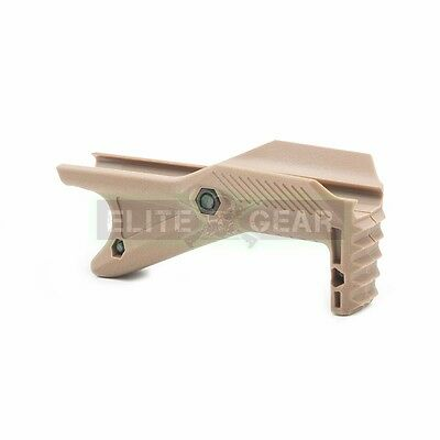 Dark Earth Tactical Cobra Angled Hand Stop Foregrip Fore Grip for Picatinny Rail