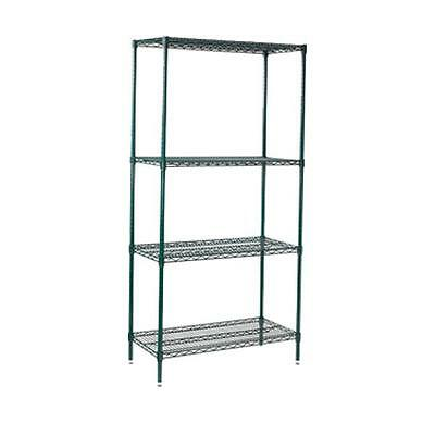 Winco VEXS-1848, 18x48x74-Inch 4-Tier Wire Shelving Set, Epoxy Coated