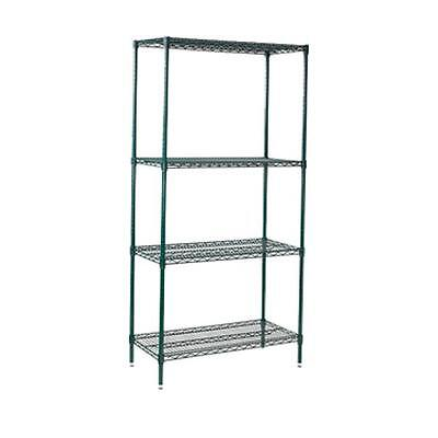 Winco VEXS-2448, 24x48x72-Inch 4-Tier Wire Shelving Set, Epoxy Coated