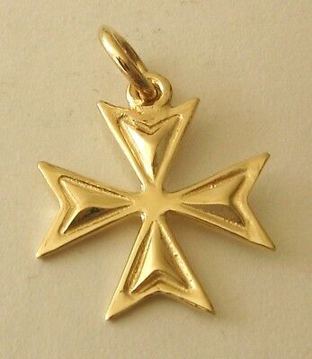 SOLID 9K 9ct Yellow Gold  MALTESE CROSS  CHARM PENDANT  RRP$119