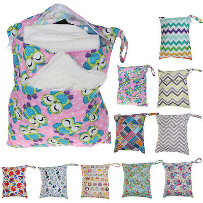 Reusable Washable Wet Dry Cloth with Dual Zipper Waterproof Diaper Bag Swim Tote