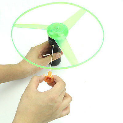 1Pcs Led Light Spin Frisbees Outdoor Pretty Flying Saucer Helicopter Toys